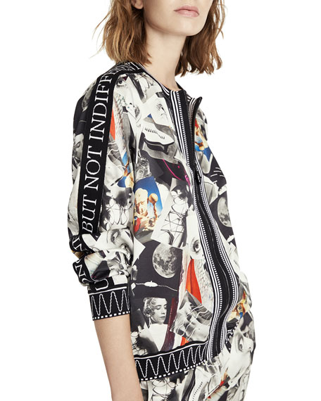 Multi-Faces Printed Bomber Jacket