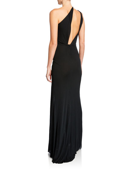 One-Shoulder Cutout Jersey Gown