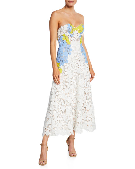 Lace Bustier Strapless Dress
