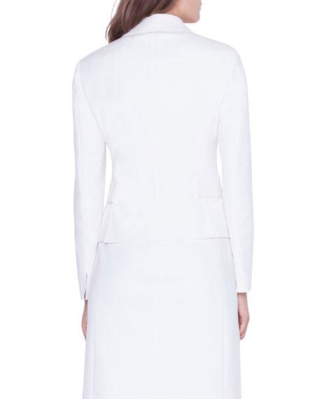 Alessia Cotton-Silk Blazer Jacket