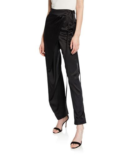 Silk Cross-Over Pants