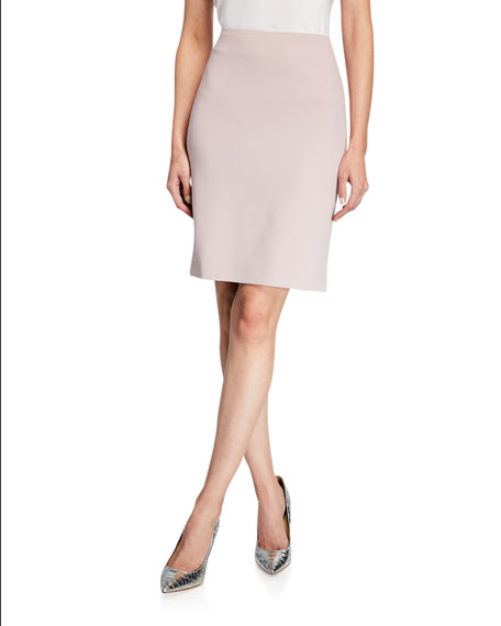 Image 1 of 1: Crepe Pencil Skirt