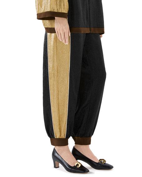 Shimmer Crepe Harem Pants