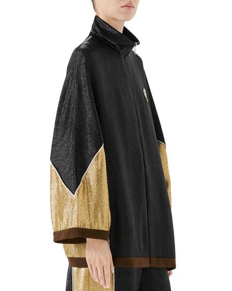 Shimmer Crepe Kimono Jacket