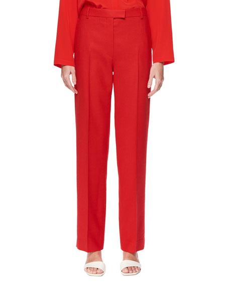 Lada Wide-Leg Wool Pants