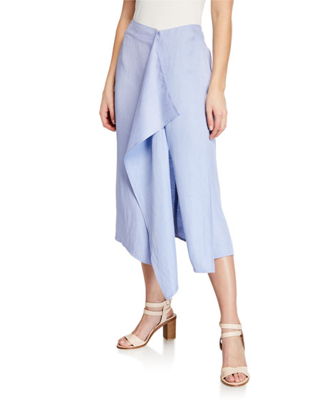 Image 1 of 1: Freya Linen Draped Skirt