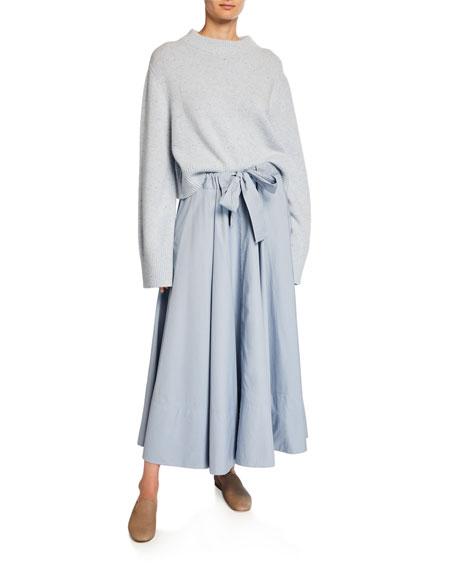 Cinched-Waist Circle Skirt