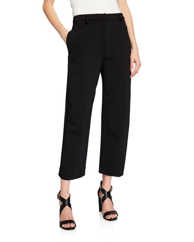 Classic High-Rise Dense-Wool Pants