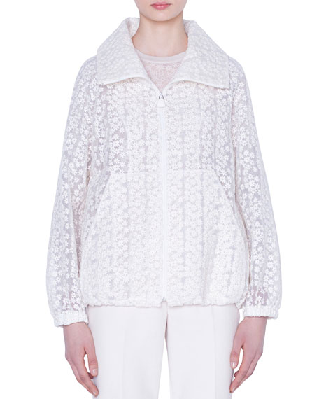 Clelia Daisy Embroidered Organza Jacket