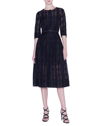 Organza Check Dress
