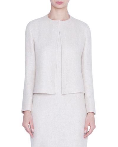 Tweed Bracelet-Sleeve Jacket
