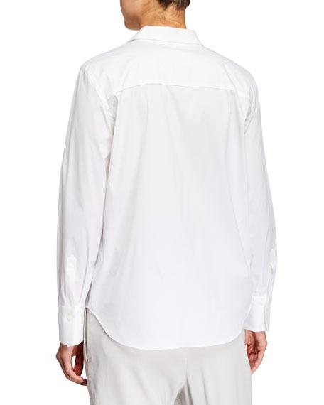 Monili-Placket Regular-Fit Poplin Shirt