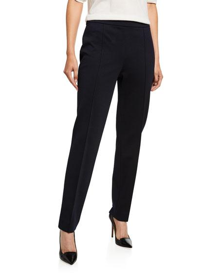 Skinny Wool-Jersey Crop Pants