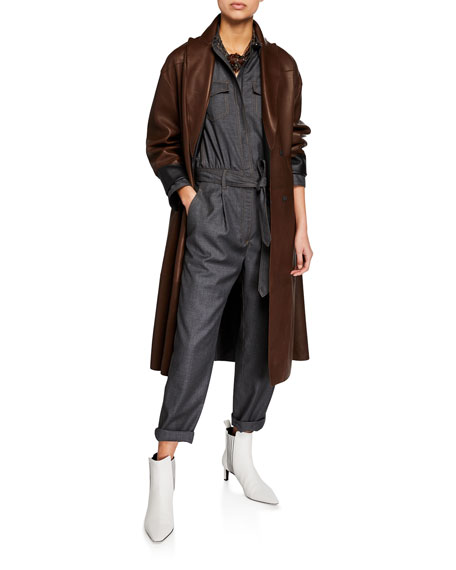 Reversible Leather Trench Coat
