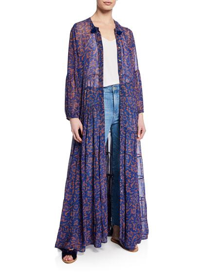 Shambala Floral Chiffon Maxi Shirtdress