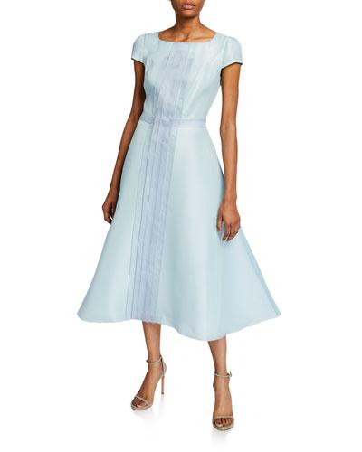 Silk Tea-Length Dress