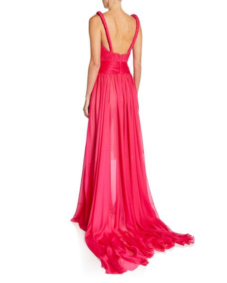Twisted Silk Gauze Gown