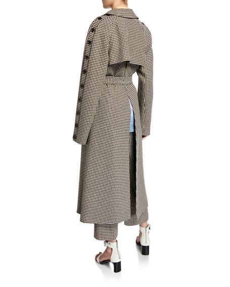 Herringbone Wool Trench Coat