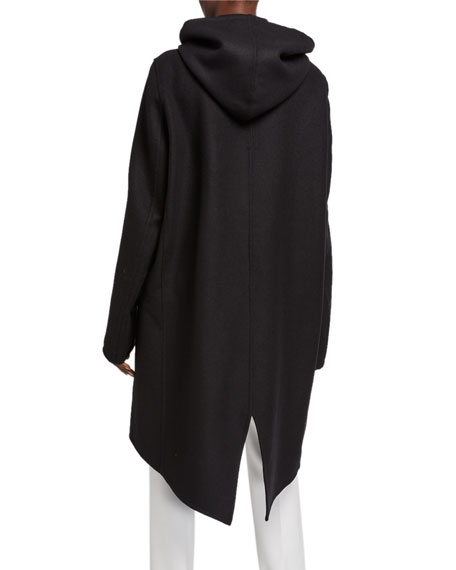 Double-Face Wool Hooded Coat