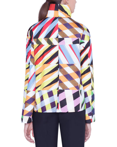 Reversible Patchwork Print Taffeta Jacket