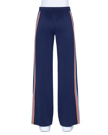 Marla Tuxedo-Striped Jersey pants