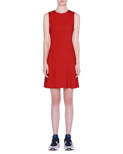 Sleeveless Jersey A-Line Dress