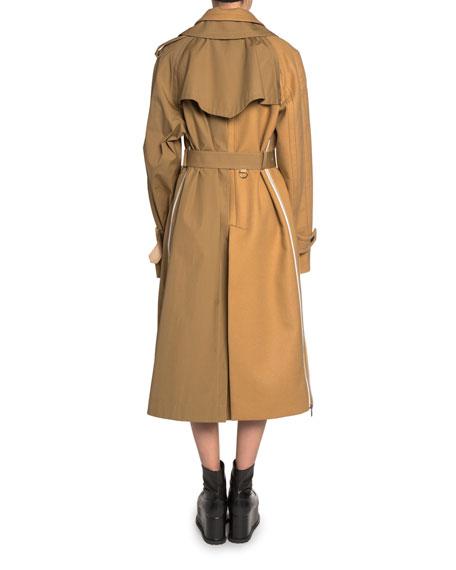 Khaki & Wool Trench Coat