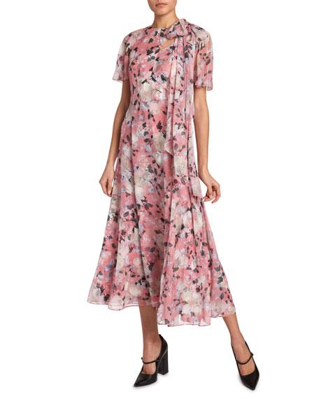 Kristie Floral Georgette Dress