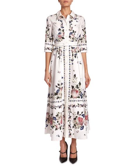 Kasia Floral Cotton Poplin Shirtdress