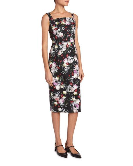 Parker Floral Sleeveless Pencil Dress