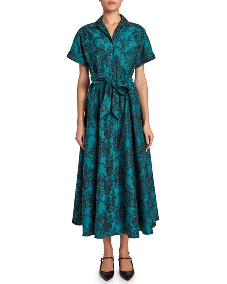 Cypress Floral Jacquard Dress by Erdem