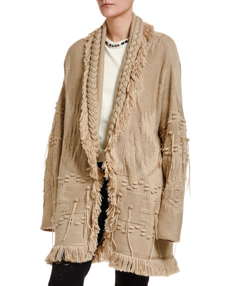 Icon Oversize Fisherman Cardigan