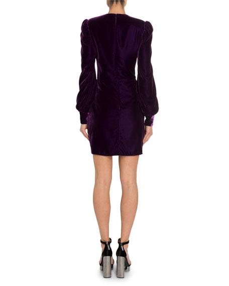 Long-Sleeve Liquid Velvet Dress