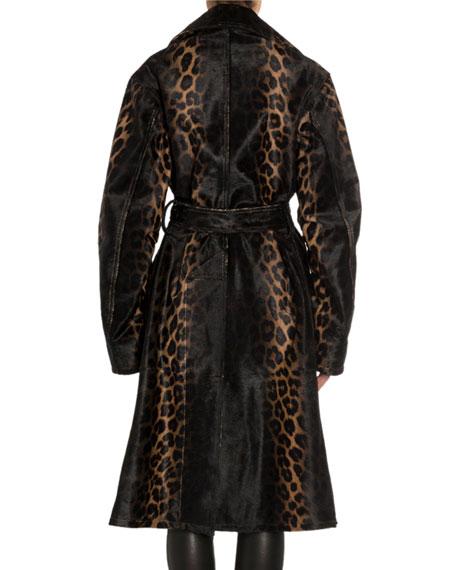 Handpainted Degrade Leopard Print Coat