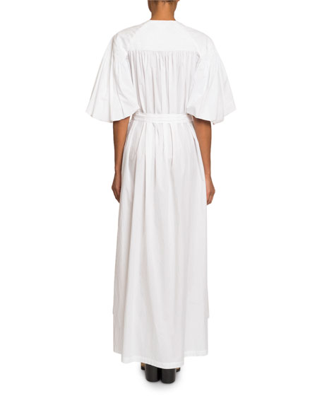 Belted Poplin Maxi Shirtdress