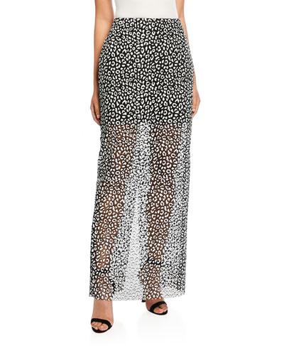 Leopard-Print Maxi Skirt