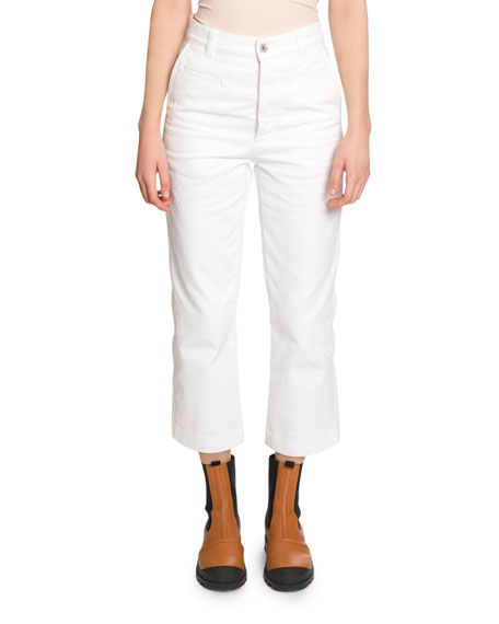 Fisherman Cropped Jeans