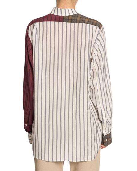 Asymmetric Patchwork Shirt