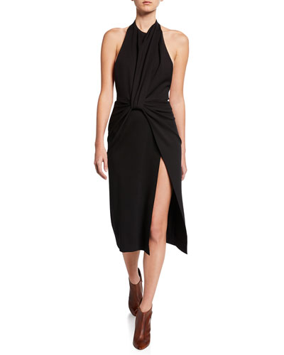 Twisted Halter-Neck Dress