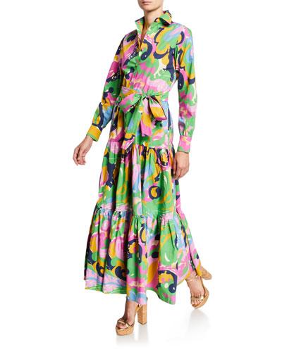 Meraviglia Rosa Bellini Printed Shirtdress