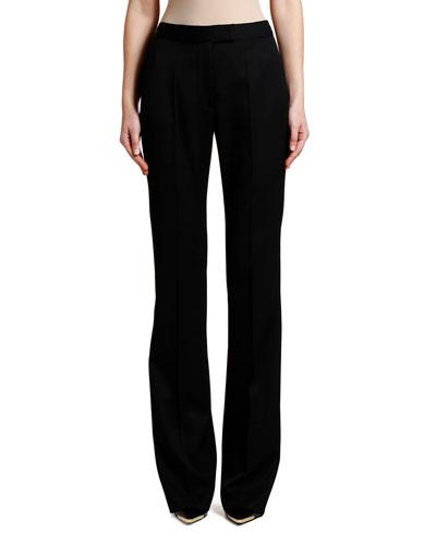 Tonal Tux-Striped Straight-Leg Pants