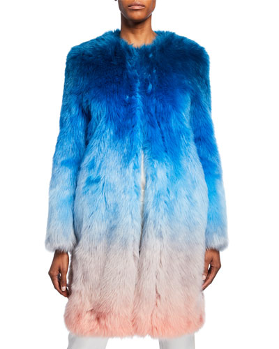 Ombre Faux-Fur Coat