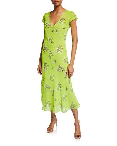 Zoe Floral-Print Chiffon Dress