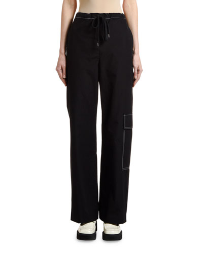 Topstitched Cargo Pants