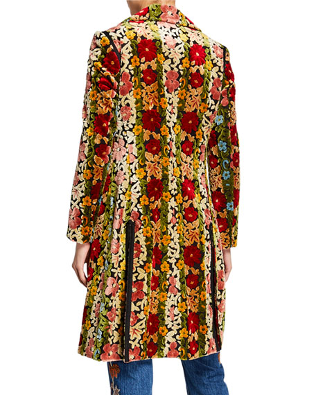 Carpet Floral Embroidered Coat