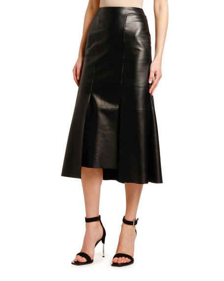 Lightweight Lambskin Leather Skirt