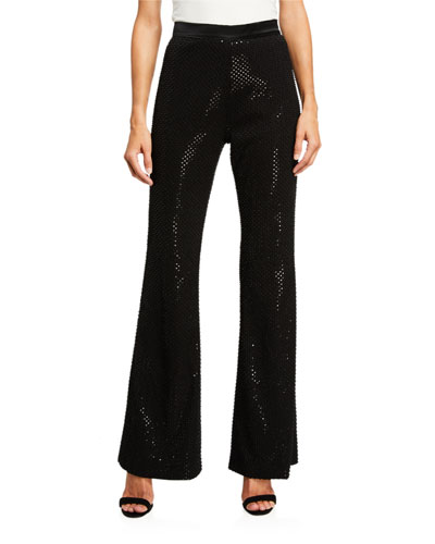 Beaded & Sequin Embroidered Pants
