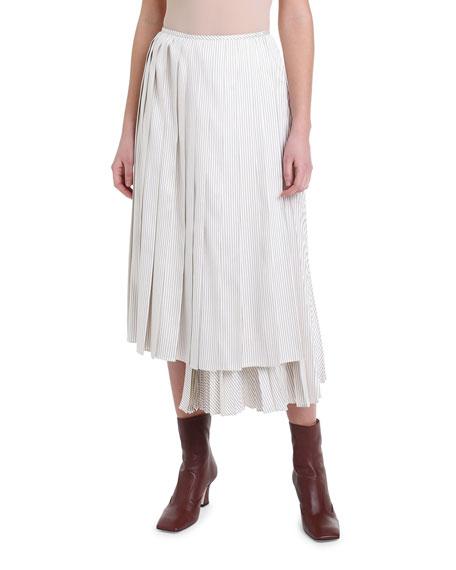 Pinstriped Wrap Skirt