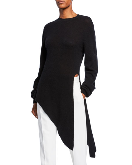 Image 1 of 1: Esme Cashmere Draped Asymmetric Sweater