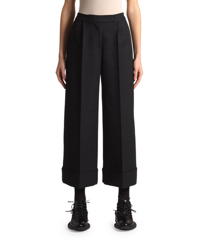 Wide-Leg Cropped Trousers